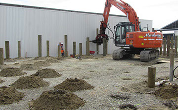 TTT Deep Pile Foundations being installed for a new commercial building.