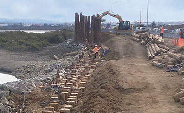 TTT Ground Improvement for State Highway 16 Causeway Upgrade in Auckland.